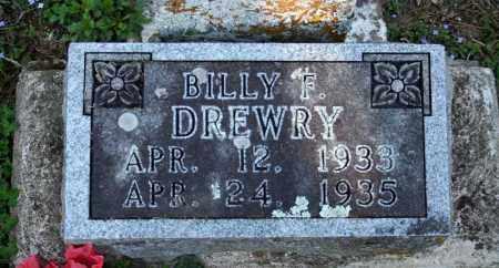 DREWRY, BILLY F. - Searcy County, Arkansas | BILLY F. DREWRY - Arkansas Gravestone Photos
