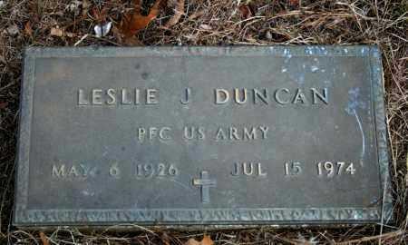 DUNCAN (VETERAN), LESLIE J. - Searcy County, Arkansas   LESLIE J. DUNCAN (VETERAN) - Arkansas Gravestone Photos