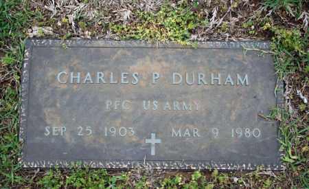 DURHAM (VETERAN), CHARLES P - Searcy County, Arkansas | CHARLES P DURHAM (VETERAN) - Arkansas Gravestone Photos