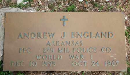 ENGLAND  (VETERAN WWI), ANDREW J. - Searcy County, Arkansas | ANDREW J. ENGLAND  (VETERAN WWI) - Arkansas Gravestone Photos