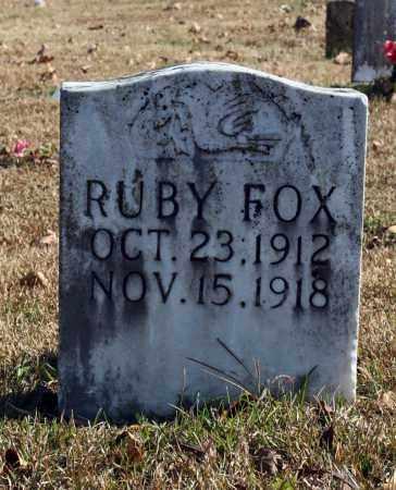 FOX, RUBY - Searcy County, Arkansas | RUBY FOX - Arkansas Gravestone Photos