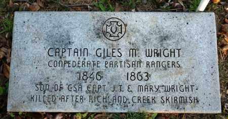 WRIGHT (VETERAN CSA), GILES M - Searcy County, Arkansas | GILES M WRIGHT (VETERAN CSA) - Arkansas Gravestone Photos