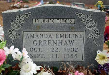 GREENHAW, AMANDA EMELINE (DREWRY) - Searcy County, Arkansas | AMANDA EMELINE (DREWRY) GREENHAW - Arkansas Gravestone Photos