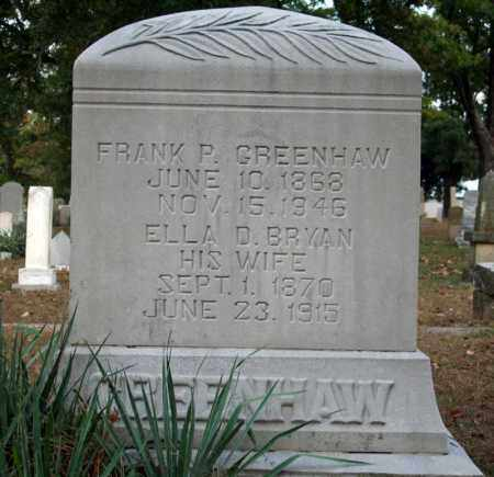 GREENHAW, FRANK P. - Searcy County, Arkansas | FRANK P. GREENHAW - Arkansas Gravestone Photos