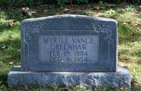 GREENHAW, MYRTLE VANCE - Searcy County, Arkansas | MYRTLE VANCE GREENHAW - Arkansas Gravestone Photos
