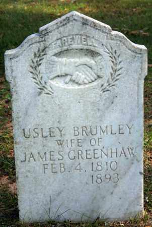 GREENHAW, USLEY - Searcy County, Arkansas | USLEY GREENHAW - Arkansas Gravestone Photos