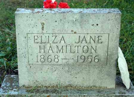 HAMILTON, ELIZA JANE - Searcy County, Arkansas   ELIZA JANE HAMILTON - Arkansas Gravestone Photos