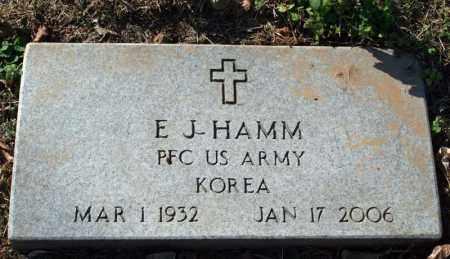 HAMM (VETERAN KOR), E. J. - Searcy County, Arkansas | E. J. HAMM (VETERAN KOR) - Arkansas Gravestone Photos