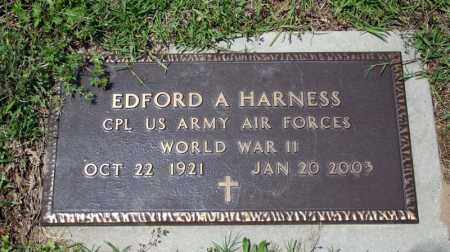 HARNESS (VETERAN WWII), EDFORD A - Searcy County, Arkansas | EDFORD A HARNESS (VETERAN WWII) - Arkansas Gravestone Photos