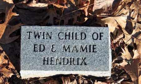 HENDRDIX, INFANT TWIN 1 - Searcy County, Arkansas | INFANT TWIN 1 HENDRDIX - Arkansas Gravestone Photos