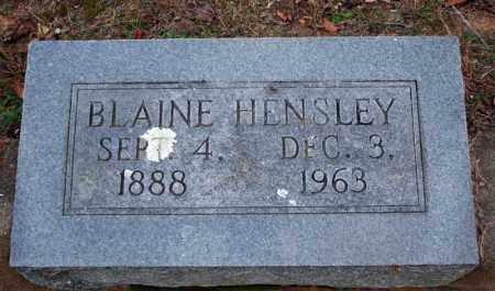 HENSLEY, BLAINE - Searcy County, Arkansas | BLAINE HENSLEY - Arkansas Gravestone Photos