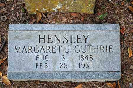 HENSLEY, MARGARET J. - Searcy County, Arkansas | MARGARET J. HENSLEY - Arkansas Gravestone Photos