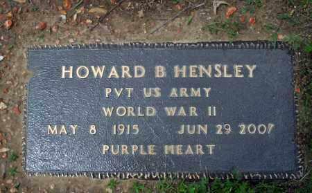 HENSLEY (VETERAN WWII), HOWARD B. - Searcy County, Arkansas | HOWARD B. HENSLEY (VETERAN WWII) - Arkansas Gravestone Photos