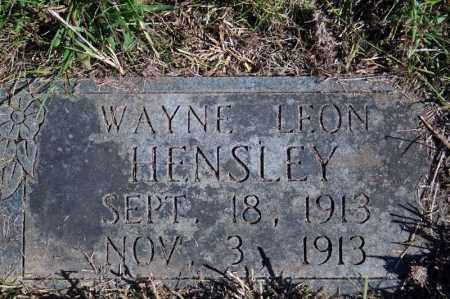 HENSLEY, WAYNE LEON - Searcy County, Arkansas | WAYNE LEON HENSLEY - Arkansas Gravestone Photos