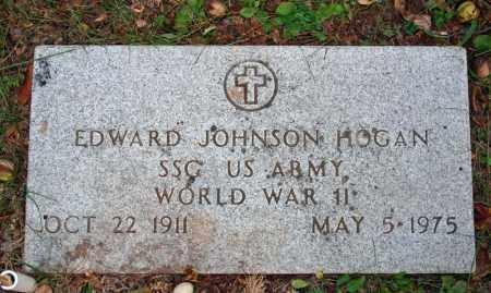 HOGAN (VETERAN WWII), EDWARD JOHNSON - Searcy County, Arkansas   EDWARD JOHNSON HOGAN (VETERAN WWII) - Arkansas Gravestone Photos