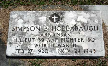 HOLLABAUGH (VETERAN WWII), SIMPSON B - Searcy County, Arkansas | SIMPSON B HOLLABAUGH (VETERAN WWII) - Arkansas Gravestone Photos