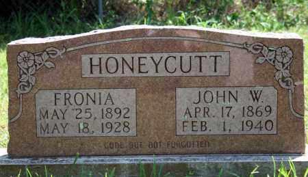 HONEYCUTT, JOHN W. - Searcy County, Arkansas | JOHN W. HONEYCUTT - Arkansas Gravestone Photos