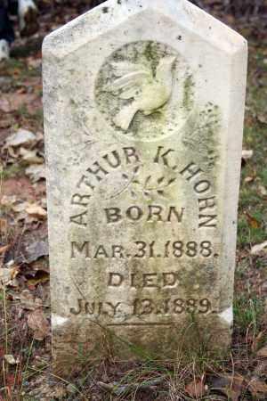 HORN, ARTHUR K. - Searcy County, Arkansas   ARTHUR K. HORN - Arkansas Gravestone Photos