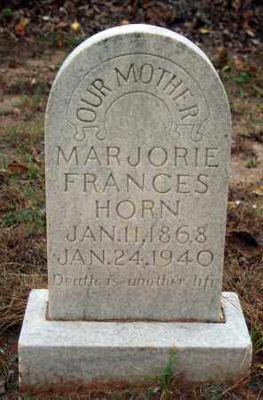 HORN, MARJORIE FRANCES - Searcy County, Arkansas | MARJORIE FRANCES HORN - Arkansas Gravestone Photos