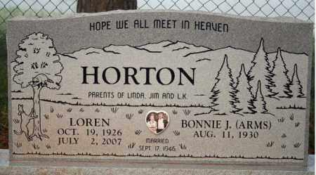HORTON, LOREN - Searcy County, Arkansas | LOREN HORTON - Arkansas Gravestone Photos