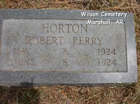 HORTON, ROBERT PERRY - Searcy County, Arkansas   ROBERT PERRY HORTON - Arkansas Gravestone Photos