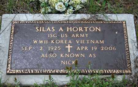 HORTON (VETERAN 3 WARS), SILAS A - Searcy County, Arkansas | SILAS A HORTON (VETERAN 3 WARS) - Arkansas Gravestone Photos