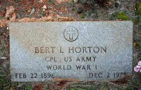 HORTON (VETERAN WWI), BERT L - Searcy County, Arkansas | BERT L HORTON (VETERAN WWI) - Arkansas Gravestone Photos