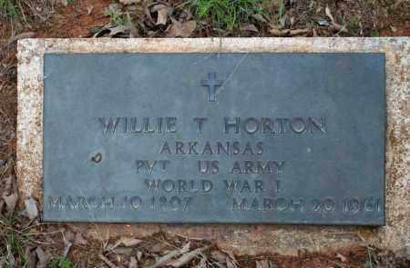 HORTON (VETERAN WWI), WILLIE T - Searcy County, Arkansas | WILLIE T HORTON (VETERAN WWI) - Arkansas Gravestone Photos