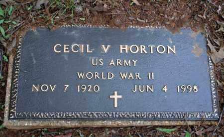 HORTON (VETERAN WWII), CECIL V - Searcy County, Arkansas   CECIL V HORTON (VETERAN WWII) - Arkansas Gravestone Photos