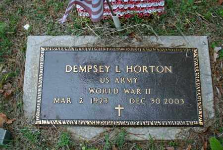 HORTON (VETERAN WWII), DEMPSEY L - Searcy County, Arkansas | DEMPSEY L HORTON (VETERAN WWII) - Arkansas Gravestone Photos