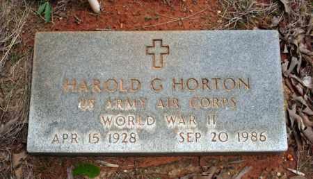 HORTON (VETERAN WWII), HAROLD G - Searcy County, Arkansas | HAROLD G HORTON (VETERAN WWII) - Arkansas Gravestone Photos