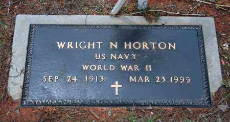 HORTON (VETERAN WWII), WRIGHT N - Searcy County, Arkansas | WRIGHT N HORTON (VETERAN WWII) - Arkansas Gravestone Photos