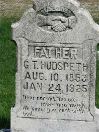 HUDSPETH, G.T. - Searcy County, Arkansas | G.T. HUDSPETH - Arkansas Gravestone Photos