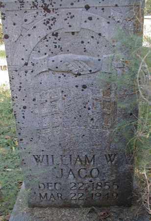 JACO, WILLIAM W. - Searcy County, Arkansas   WILLIAM W. JACO - Arkansas Gravestone Photos