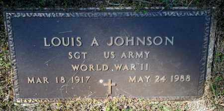 JOHNSON (VETERAN WWII), LOUIS A - Searcy County, Arkansas   LOUIS A JOHNSON (VETERAN WWII) - Arkansas Gravestone Photos