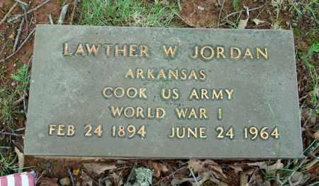 JORDAN (VETERAN WWI), LAWTHER W - Searcy County, Arkansas   LAWTHER W JORDAN (VETERAN WWI) - Arkansas Gravestone Photos