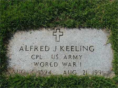KEELING (VETERAN WWI), ALFRED J - Searcy County, Arkansas | ALFRED J KEELING (VETERAN WWI) - Arkansas Gravestone Photos