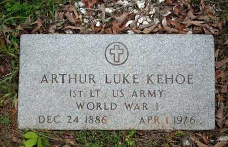 KEHOE (VETERAN WWI), ARTHUR LUKE - Searcy County, Arkansas | ARTHUR LUKE KEHOE (VETERAN WWI) - Arkansas Gravestone Photos