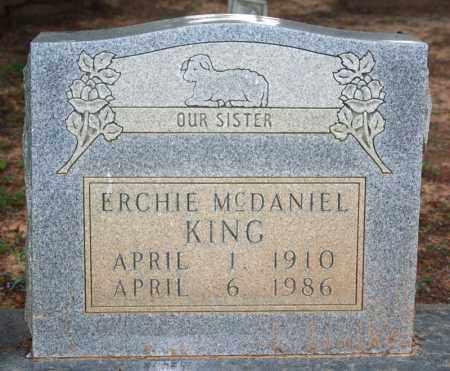 KING, ERCHIE - Searcy County, Arkansas | ERCHIE KING - Arkansas Gravestone Photos