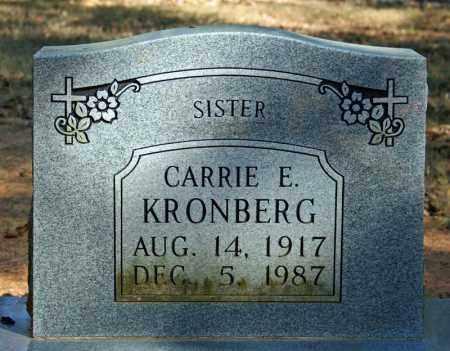 KRONBERG, CARRIE E. - Searcy County, Arkansas | CARRIE E. KRONBERG - Arkansas Gravestone Photos