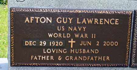 LAWRENCE (VETERAN WWII), AFTON GUY - Searcy County, Arkansas   AFTON GUY LAWRENCE (VETERAN WWII) - Arkansas Gravestone Photos