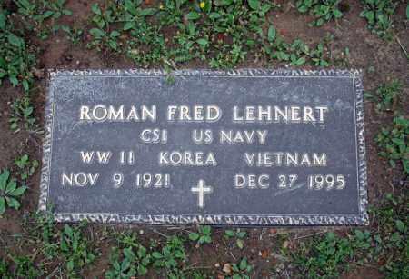 LEHNERT (VETERAN 3 WARS), ROMAN FRED - Searcy County, Arkansas | ROMAN FRED LEHNERT (VETERAN 3 WARS) - Arkansas Gravestone Photos