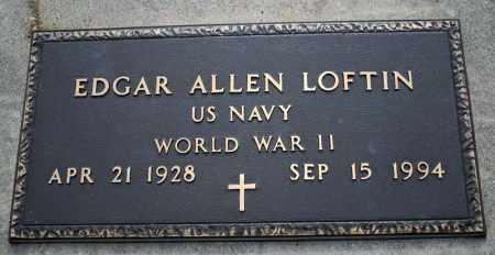 LOFTIN  (VETERAN WWII), EDGAR ALLEN - Searcy County, Arkansas | EDGAR ALLEN LOFTIN  (VETERAN WWII) - Arkansas Gravestone Photos