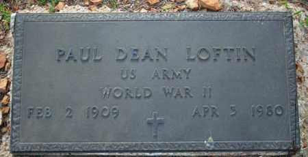 LOFTIN  (VETERAN WWII), PAUL DEAN - Searcy County, Arkansas | PAUL DEAN LOFTIN  (VETERAN WWII) - Arkansas Gravestone Photos