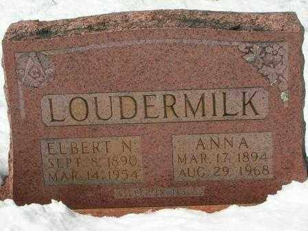LOUDERMILK, ANNA - Searcy County, Arkansas | ANNA LOUDERMILK - Arkansas Gravestone Photos