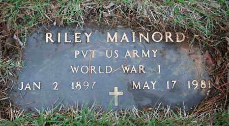 MAINORD (VETERAN WWI), RILEY - Searcy County, Arkansas | RILEY MAINORD (VETERAN WWI) - Arkansas Gravestone Photos