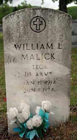 MALICK (VETERAN), WILLIAM L - Searcy County, Arkansas | WILLIAM L MALICK (VETERAN) - Arkansas Gravestone Photos