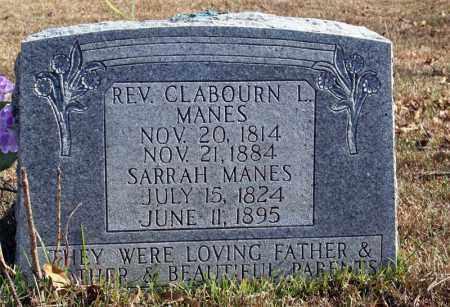 MANES, CLABOURN L. - Searcy County, Arkansas   CLABOURN L. MANES - Arkansas Gravestone Photos