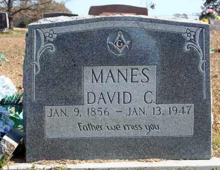 MANES, DAVID C. - Searcy County, Arkansas   DAVID C. MANES - Arkansas Gravestone Photos