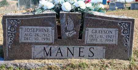 MANES, GRAYSON - Searcy County, Arkansas | GRAYSON MANES - Arkansas Gravestone Photos